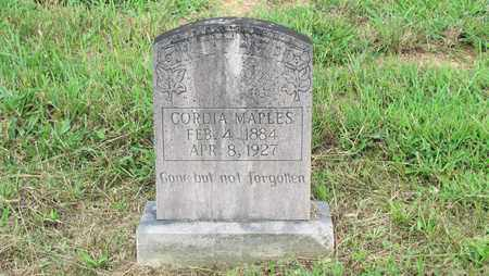 MAPLES, CORDIA - Sevier County, Tennessee   CORDIA MAPLES - Tennessee Gravestone Photos