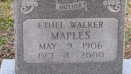 MAPLES, ETHEL (CLOSE UP) - Sevier County, Tennessee | ETHEL (CLOSE UP) MAPLES - Tennessee Gravestone Photos