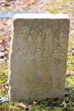 MAPLES, FRANK - Sevier County, Tennessee | FRANK MAPLES - Tennessee Gravestone Photos
