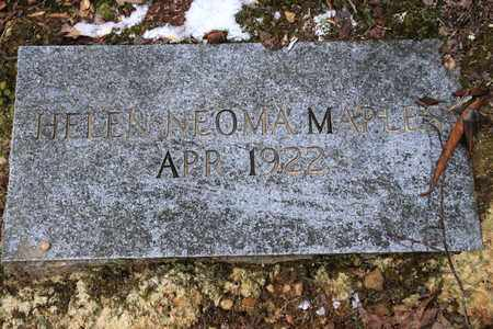 MAPLES, HELEN NEOMA - Sevier County, Tennessee | HELEN NEOMA MAPLES - Tennessee Gravestone Photos