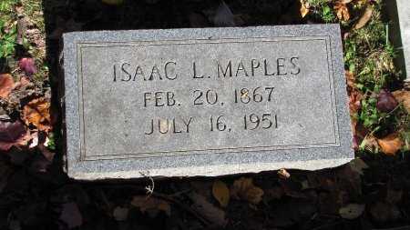 MAPLES, ISAAC L. - Sevier County, Tennessee | ISAAC L. MAPLES - Tennessee Gravestone Photos