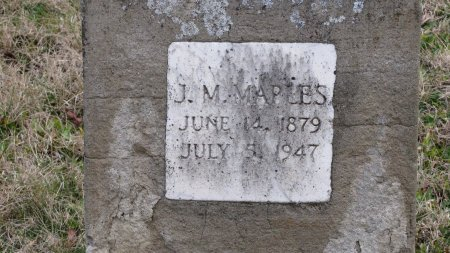 MAPLES, J. M. (CLOSE UP) - Sevier County, Tennessee | J. M. (CLOSE UP) MAPLES - Tennessee Gravestone Photos