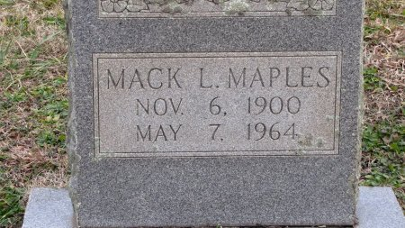 MAPLES, MACK L. (CLOSE UP) - Sevier County, Tennessee | MACK L. (CLOSE UP) MAPLES - Tennessee Gravestone Photos
