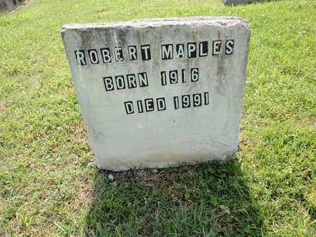 MAPLES, ROBERT - Sevier County, Tennessee | ROBERT MAPLES - Tennessee Gravestone Photos