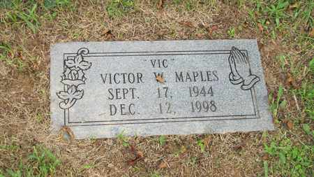 MAPLES, VICTOR W - Sevier County, Tennessee | VICTOR W MAPLES - Tennessee Gravestone Photos