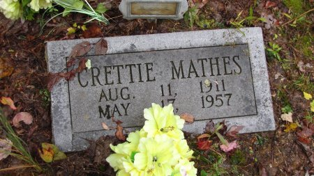 MATHES, CRETTIE - Sevier County, Tennessee | CRETTIE MATHES - Tennessee Gravestone Photos