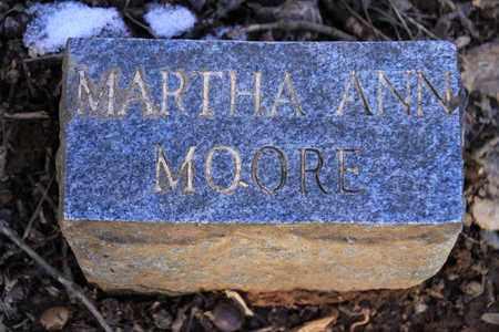MOORE, MARTHA ANN - Sevier County, Tennessee | MARTHA ANN MOORE - Tennessee Gravestone Photos