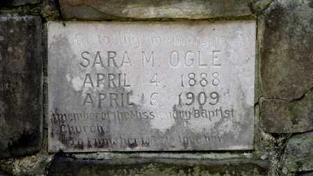 OGLE, SARA M. (CLOSE UP) - Sevier County, Tennessee | SARA M. (CLOSE UP) OGLE - Tennessee Gravestone Photos