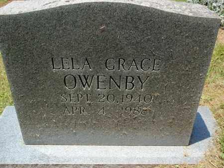 OWENBY, LELA GRACE - Sevier County, Tennessee | LELA GRACE OWENBY - Tennessee Gravestone Photos