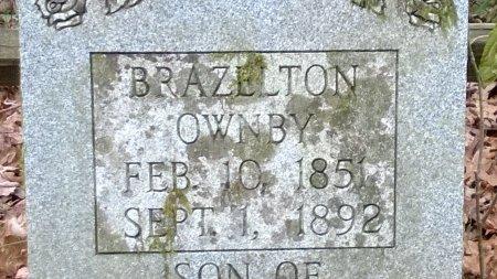 OWNBY, BRAZELTON (CLOSE UP) - Sevier County, Tennessee | BRAZELTON (CLOSE UP) OWNBY - Tennessee Gravestone Photos