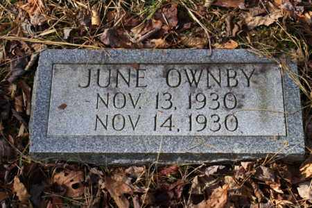 OWNBY, JUNE - Sevier County, Tennessee | JUNE OWNBY - Tennessee Gravestone Photos