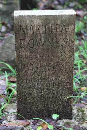 OWNBY, MARTHA - Sevier County, Tennessee | MARTHA OWNBY - Tennessee Gravestone Photos