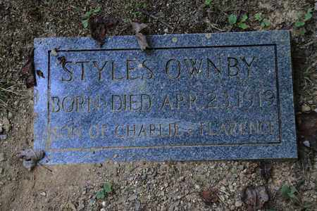 OWNBY, STYLES - Sevier County, Tennessee   STYLES OWNBY - Tennessee Gravestone Photos