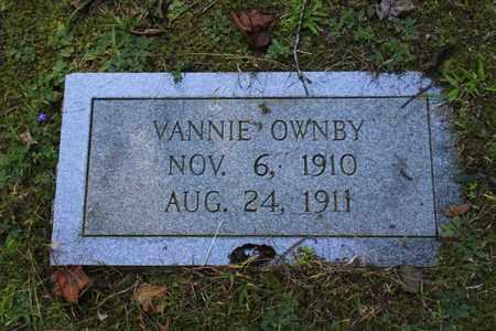 OWNBY, VANNIE - Sevier County, Tennessee | VANNIE OWNBY - Tennessee Gravestone Photos