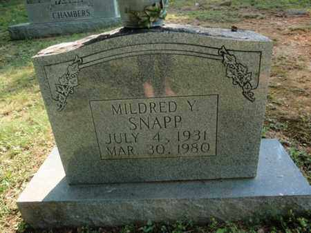 SNAPP, MILDRED Y - Sevier County, Tennessee | MILDRED Y SNAPP - Tennessee Gravestone Photos