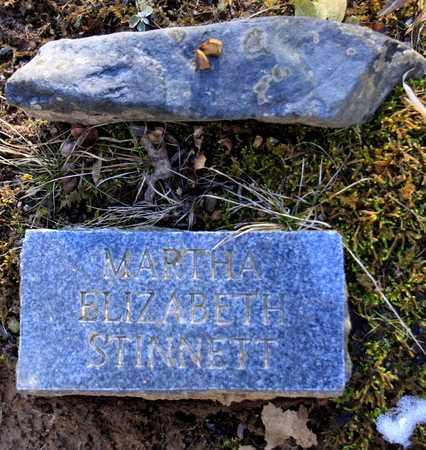 STINNETT, MARTHA ELIZABETH - Sevier County, Tennessee   MARTHA ELIZABETH STINNETT - Tennessee Gravestone Photos