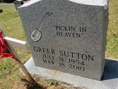SUTTON, GREER - Sevier County, Tennessee | GREER SUTTON - Tennessee Gravestone Photos