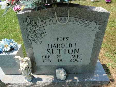 SUTTON, HAROLD L - Sevier County, Tennessee | HAROLD L SUTTON - Tennessee Gravestone Photos