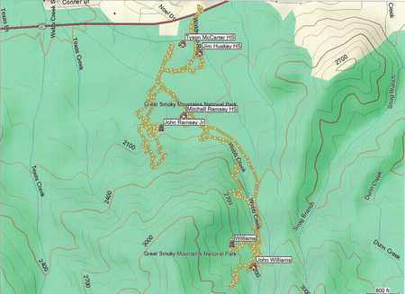 *TRAIL MAP,  - Sevier County, Tennessee |  *TRAIL MAP - Tennessee Gravestone Photos
