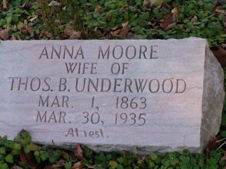 MOORE UNDERWOOD, ANNA - Sevier County, Tennessee | ANNA MOORE UNDERWOOD - Tennessee Gravestone Photos