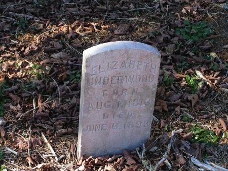 UNDERWOOD, ELIZABETH - Sevier County, Tennessee | ELIZABETH UNDERWOOD - Tennessee Gravestone Photos