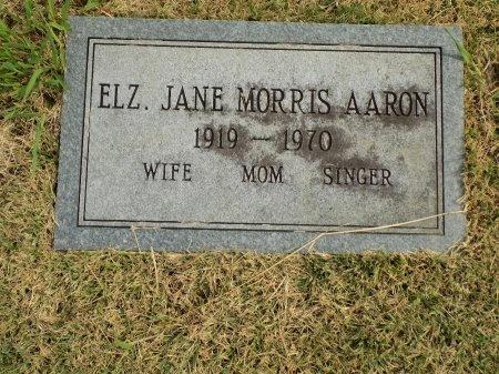 AARON, ELIZABETH JANE - Shelby County, Tennessee | ELIZABETH JANE AARON - Tennessee Gravestone Photos