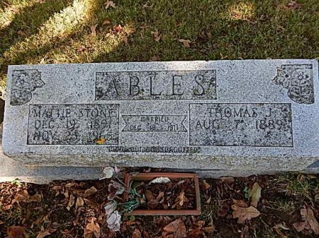ABLES, MATTIE - Shelby County, Tennessee | MATTIE ABLES - Tennessee Gravestone Photos