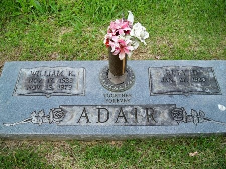 DUNCAN ADAIR, RUBY ETHEL - Shelby County, Tennessee | RUBY ETHEL DUNCAN ADAIR - Tennessee Gravestone Photos