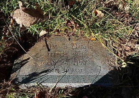 YOUNG ADAMS, ADA B - Shelby County, Tennessee | ADA B YOUNG ADAMS - Tennessee Gravestone Photos