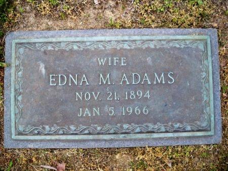 ADAMS, EDNA M. - Shelby County, Tennessee | EDNA M. ADAMS - Tennessee Gravestone Photos