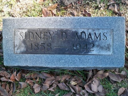 ADAMS, SIDNEY D. - Shelby County, Tennessee   SIDNEY D. ADAMS - Tennessee Gravestone Photos