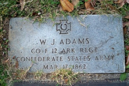 ADAMS (VETERAN CSA), W. J. - Shelby County, Tennessee | W. J. ADAMS (VETERAN CSA) - Tennessee Gravestone Photos