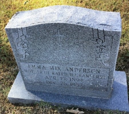 ANDERSON, EMMA MIX - Shelby County, Tennessee | EMMA MIX ANDERSON - Tennessee Gravestone Photos