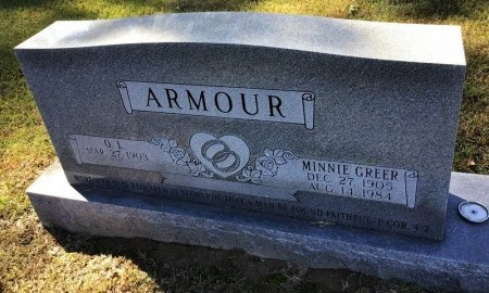 GREER ARMOUR, MINNIE - Shelby County, Tennessee | MINNIE GREER ARMOUR - Tennessee Gravestone Photos