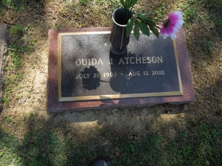 ATCHESON, OUIDA - Shelby County, Tennessee | OUIDA ATCHESON - Tennessee Gravestone Photos