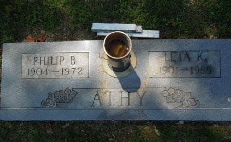ATHY, PHILIP B. - Shelby County, Tennessee | PHILIP B. ATHY - Tennessee Gravestone Photos