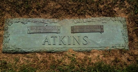 ATKINS, LOUISE - Shelby County, Tennessee | LOUISE ATKINS - Tennessee Gravestone Photos