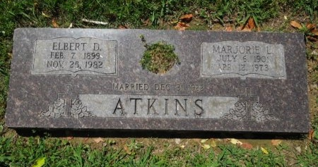 LEWERS ATKINS, MARJORIE - Shelby County, Tennessee | MARJORIE LEWERS ATKINS - Tennessee Gravestone Photos