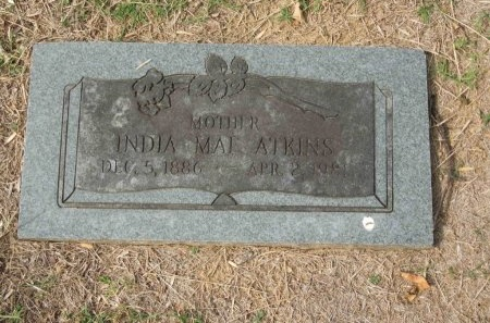 ROLLINS ATKINS, INDIA MAE - Shelby County, Tennessee | INDIA MAE ROLLINS ATKINS - Tennessee Gravestone Photos