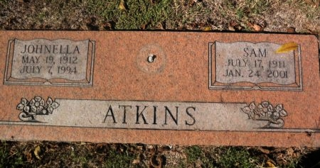 ATKINS, JOHNELLA - Shelby County, Tennessee | JOHNELLA ATKINS - Tennessee Gravestone Photos