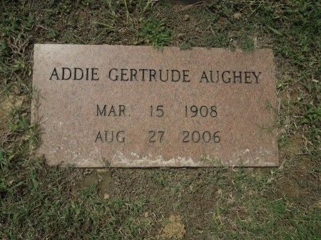 AUGHEY, ADDIE GERTRUDE - Shelby County, Tennessee | ADDIE GERTRUDE AUGHEY - Tennessee Gravestone Photos