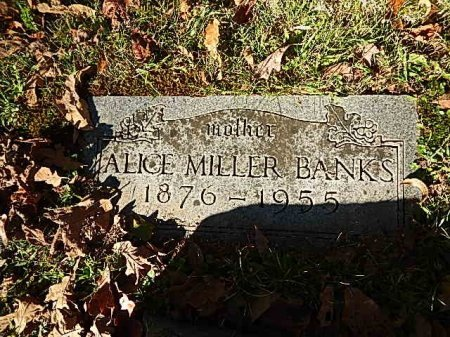 BANKS, ALICE MILLER - Shelby County, Tennessee | ALICE MILLER BANKS - Tennessee Gravestone Photos