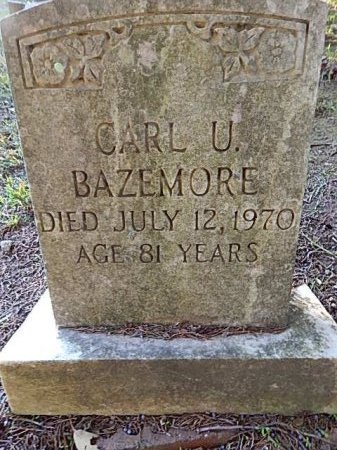 BAZEMORE, CARL U - Shelby County, Tennessee   CARL U BAZEMORE - Tennessee Gravestone Photos