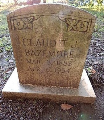 BAZEMORE, CLAUD T J - Shelby County, Tennessee | CLAUD T J BAZEMORE - Tennessee Gravestone Photos