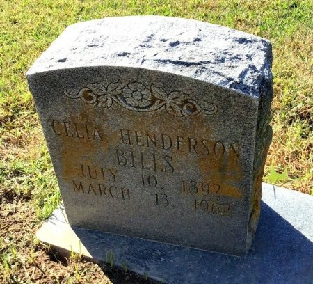HENDERSON BILLS, CELIA - Shelby County, Tennessee | CELIA HENDERSON BILLS - Tennessee Gravestone Photos