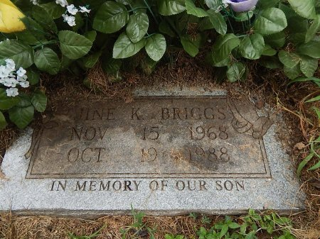 BRIGGS, JINE K - Shelby County, Tennessee | JINE K BRIGGS - Tennessee Gravestone Photos