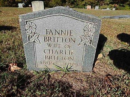 BRITTON, FANNIE - Shelby County, Tennessee | FANNIE BRITTON - Tennessee Gravestone Photos