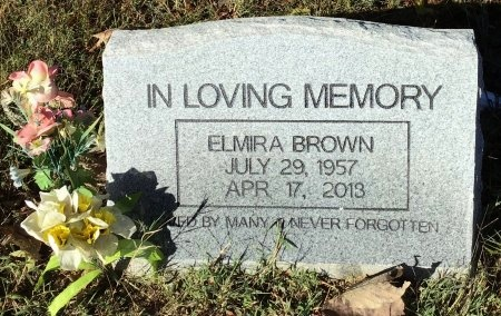 BROWN, ELMIRA - Shelby County, Tennessee   ELMIRA BROWN - Tennessee Gravestone Photos