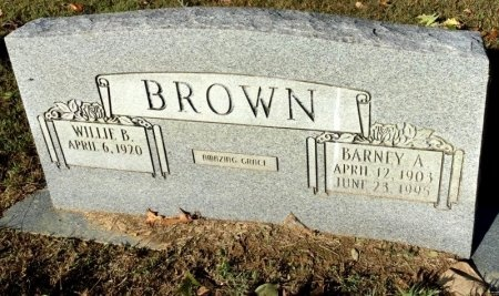 BROWN, BARNEY A. - Shelby County, Tennessee | BARNEY A. BROWN - Tennessee Gravestone Photos