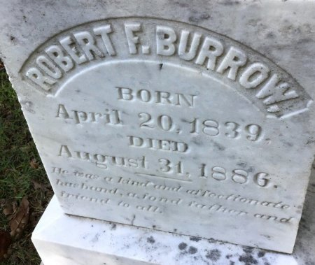 BURROW, ROBERT F. (CLOSE UP) - Shelby County, Tennessee | ROBERT F. (CLOSE UP) BURROW - Tennessee Gravestone Photos
